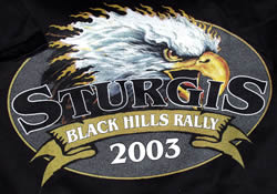sturgis t-shirt closeup