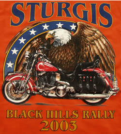 orange sturgis t-shirt eagle